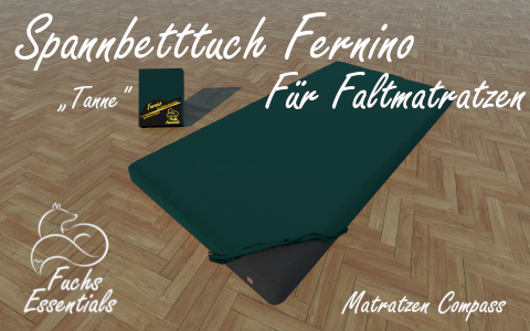 Bettlaken 60x180x11 Fernino tanne - speziell entwickelt fuer faltbare Matratzen