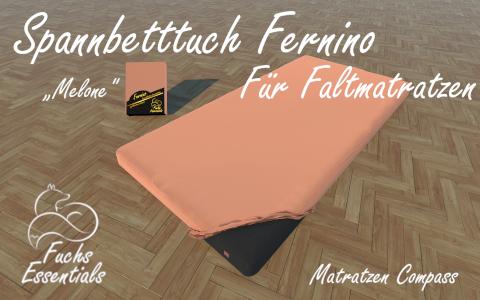 Spannbetttuch 100x190x14 Fernino melone - speziell entwickelt fuer faltbare Matratzen