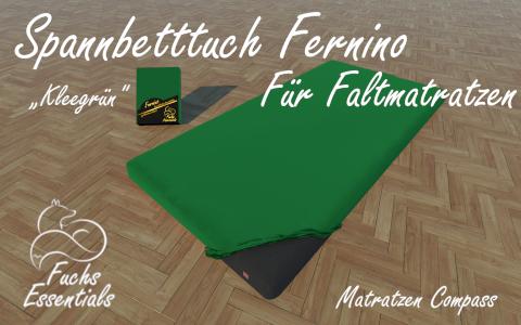 Spannbetttuch 90x200x8 Fernino kleegruen - speziell fuer klappbare Matratzen