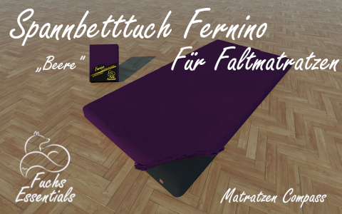 Bettlaken 110x200x11 Fernino beere - insbesondere fuer Koffermatratzen