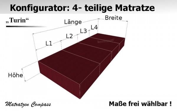 Faltbare Matratze 4 - teilig aus Kaltschaum nach Maß - Turin 4