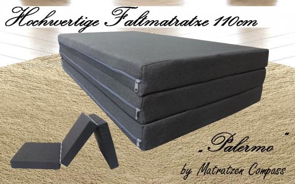 Faltbare Matratze 110x200x8 cm grau Palermo - ideal für Renault Kangoo