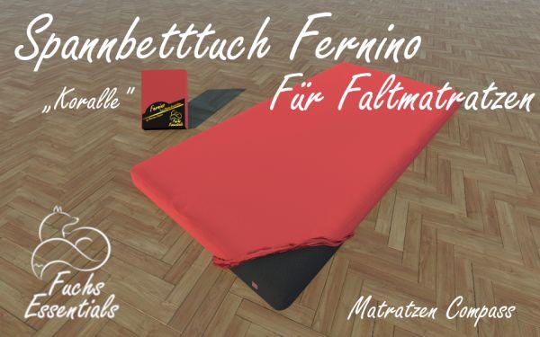 Bettlaken 110x180x14 Fernino koralle - speziell entwickelt für Faltmatratzen