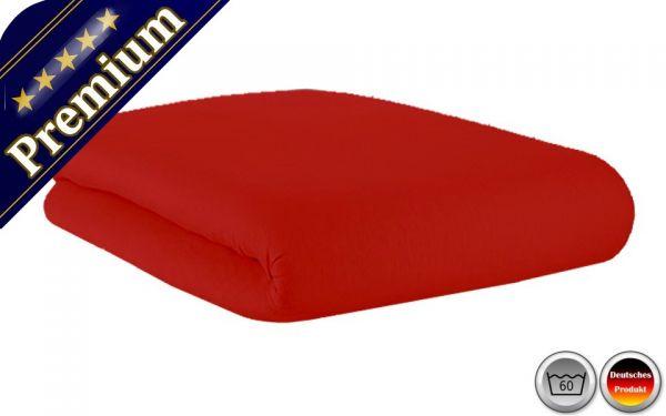 Spannbetttuch Premium Rot