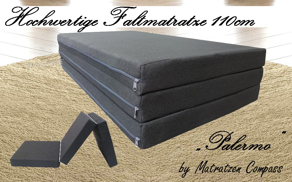 exklusive faltbare matratze palermo 110x200x8 cm blau geeignet f r kangoo matratzen compass. Black Bedroom Furniture Sets. Home Design Ideas