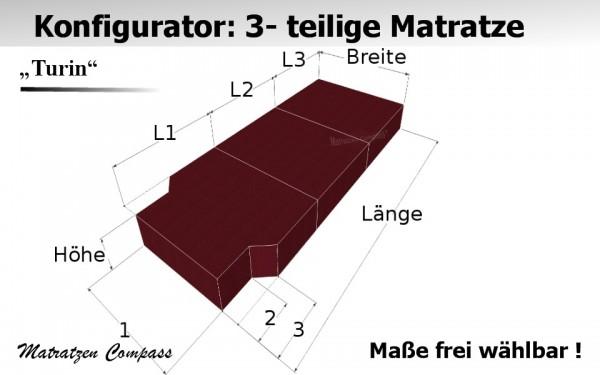 Turin 10 für T5 / T6 usw. - Faltbare Kaltschaummatratze nach Maß