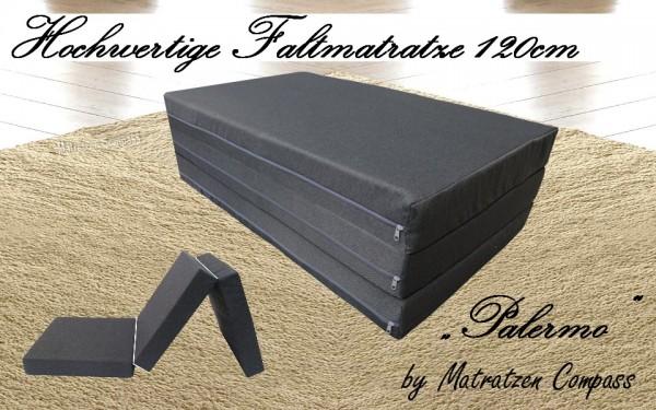 Faltbare Matratze 120x200x7 cm grau Palermo ideal für CITROËN Berlingo