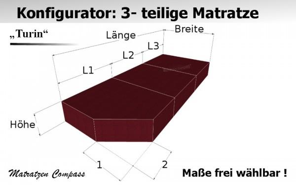 Hochwertige Klappmatratze 3 - teilig nach Maß - Turin 6