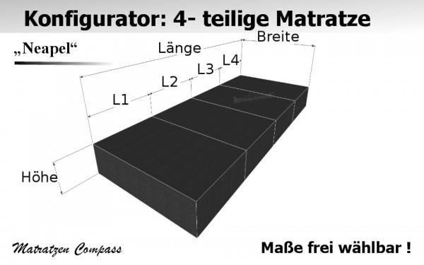 faltbare klappmatratze 4 teilig g nstig nach ma angefertigt matratzen compass. Black Bedroom Furniture Sets. Home Design Ideas