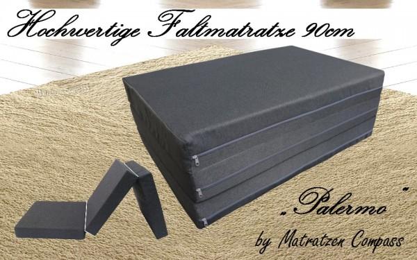 Faltbare Hochwertige Matratze Palermo 90x200x11cm Grau