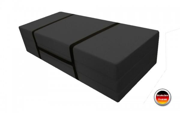 Faltmatratze_Gästebett 140x186 cm Grau Microfaser Pisa