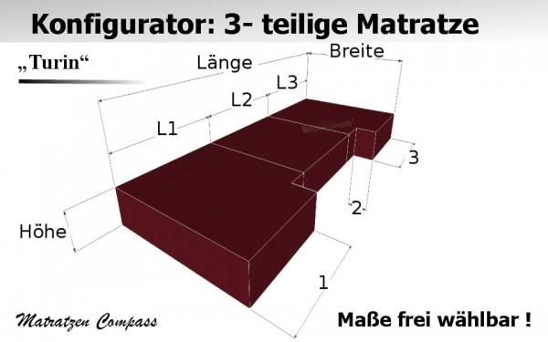Klappmatratze aus Kaltschaum 3 - teilig nach Maß - Turin 8