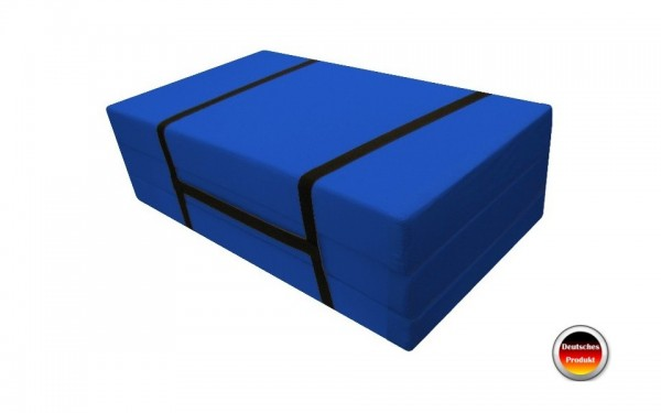 Faltmatratze_Gästebett 70x186 cm Blau Pisa
