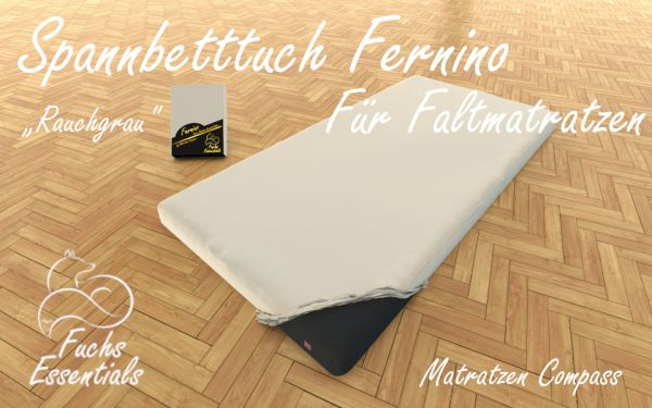 Spannlaken 110x180x11 Fernino rauchgrau - insbesondere geeignet für Klappmatratzen