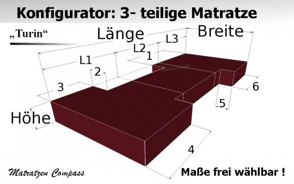 Hochwertige 3 - teilige Klappmatratze nach Maß - Turin 9