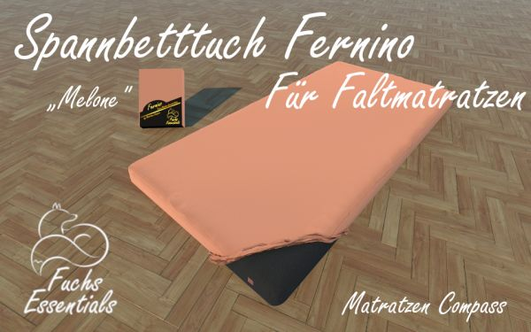 Bettlaken 100x190x8 Fernino melone - ideal für klappbare Matratzen