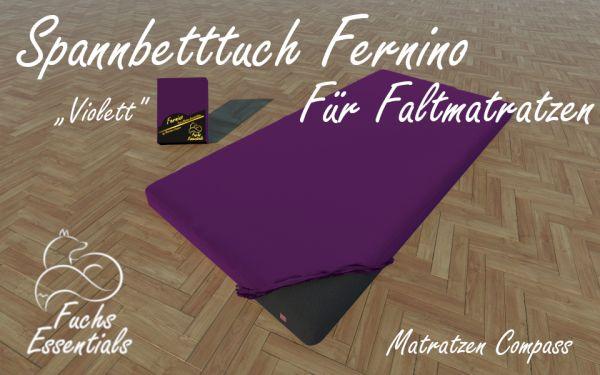 Spannbetttuch 100x190x11 Fernino violett - insbesondere geeignet für Klappmatratzen