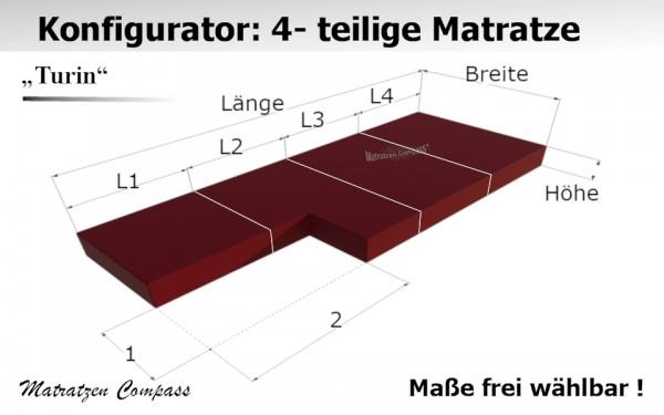 Faltbare Matratze aus Kaltschaum nach Maß 4 -teilig - Turin 11