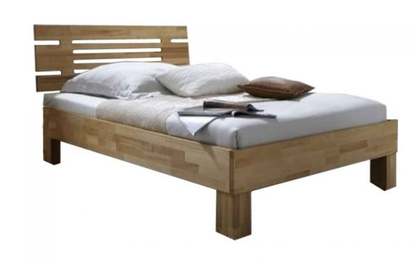 Holzbettgestell San Remo 140x200 cm Kernbuche massiv geölt