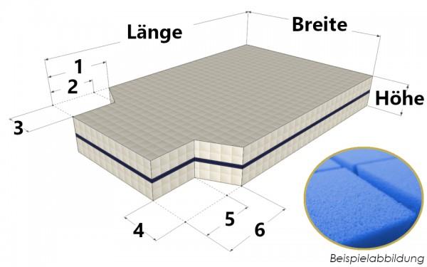 Kaltschaummatratze mit zweifachem Eckausschnitt nach Maß - Bellagio 5