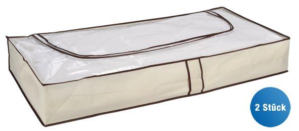 Unterbettkommode 103 x 45 x 16 cm beige