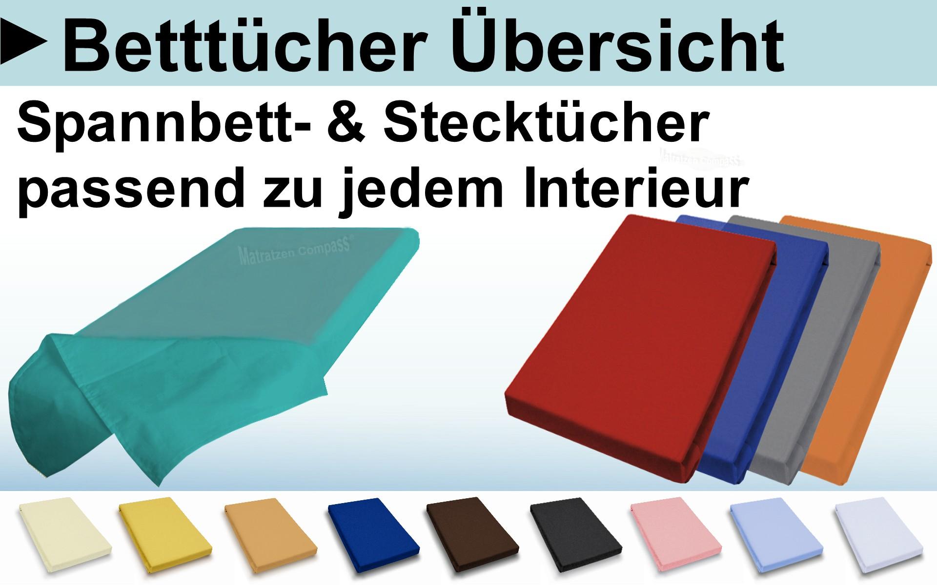 Spannbetttücher und Bettlaken für Matratzen und speziell für Klappmatratzen