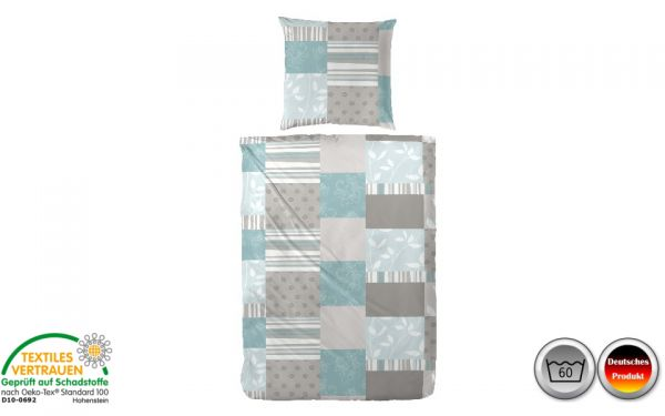 biber bettw sche blau grau wei kariert 057 biber bettw sche heimtextilien matratzen. Black Bedroom Furniture Sets. Home Design Ideas