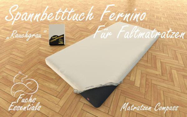 Spannbetttuch 100x180x6 Fernino rauchgrau - speziell für klappbare Matratzen