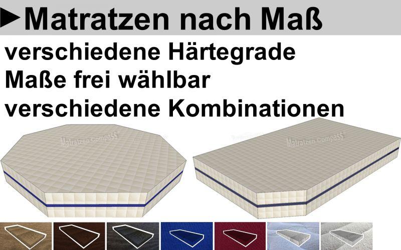 Unsere Matratzen nach Maß können Sie in jedem Maß und jeder Form direkt online bestellen