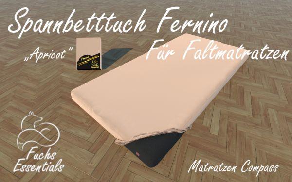 Spannbetttuch 100x190x14 Fernino apricot - besonders geeignet für faltbare Matratzen