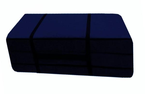 Faltmatratze_Gästebett 110x200 cm Blau Microfaser Pisa