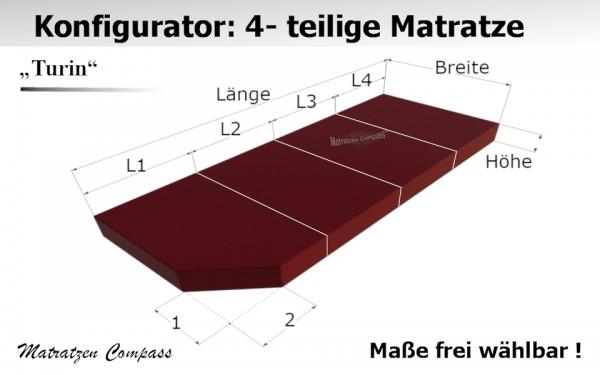 Hochwertige Klappmatratze 4 - teilig nach Maß - Turin 12