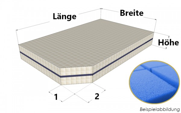 Matratze nach Maß aus hochwertigem Kaltschaum - Bellagio 3