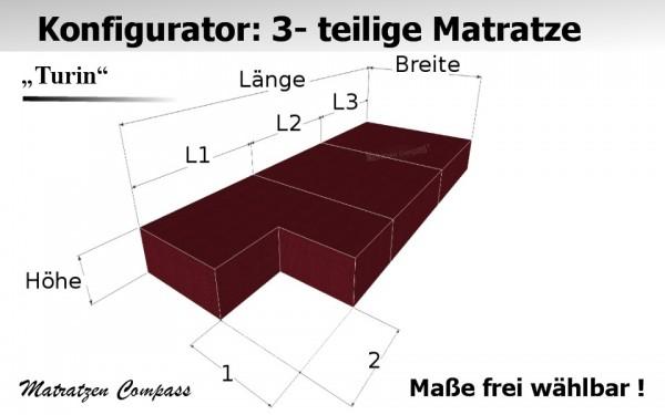 Faltbare Matratze aus Kaltschaum nach Maß 3 -teilig - Turin 5