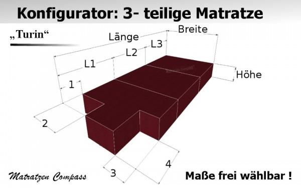 Klappmatratze nach Maß mit Kaltschaumkern 3 - teilig - Turin 7