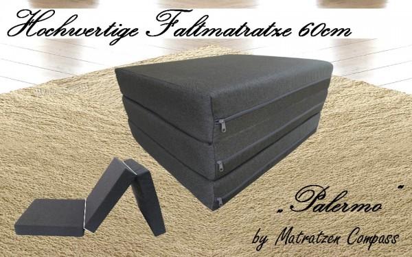 Faltbare Matratze 60x200x11 cm grau Palermo