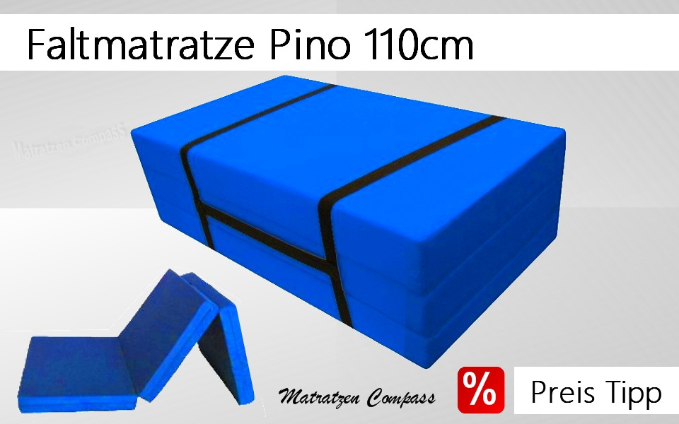 faltmatratze klappmatratze g nstig pino mit tragegurt 110x200x10 grau. Black Bedroom Furniture Sets. Home Design Ideas
