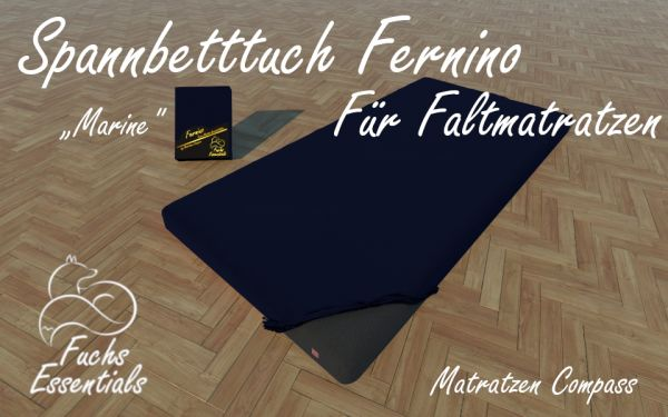 Spannlaken 110x200x8 Fernino marine - sehr gut geeignet für Faltmatratzen