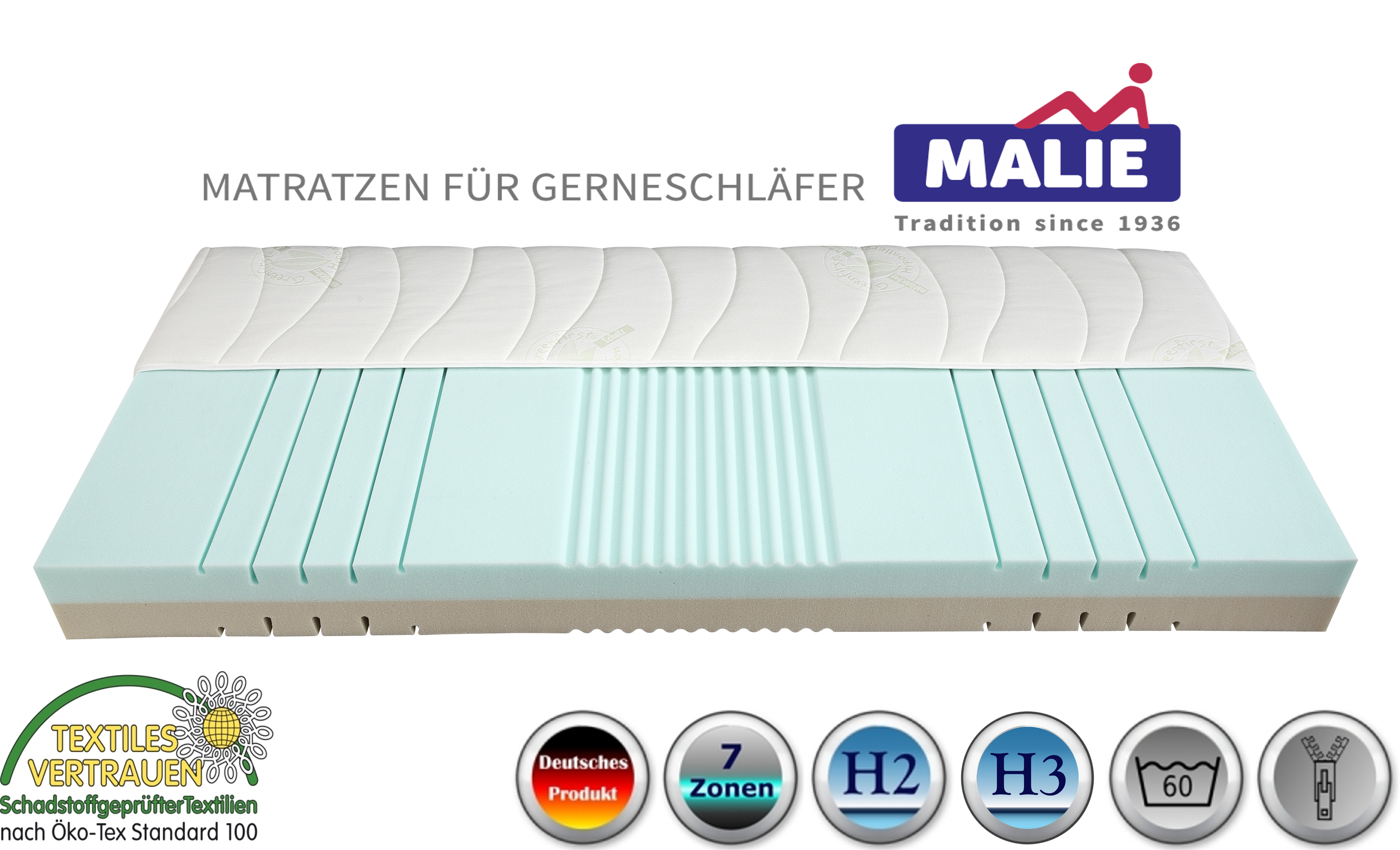 malie vicolo kaltschaummatratze kaufen matratzen compass. Black Bedroom Furniture Sets. Home Design Ideas