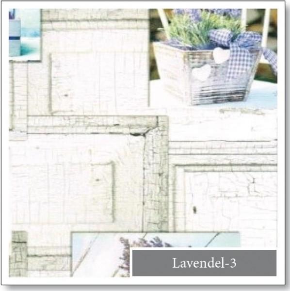 WACHSTUCH Lugana Landhaus Lavendel