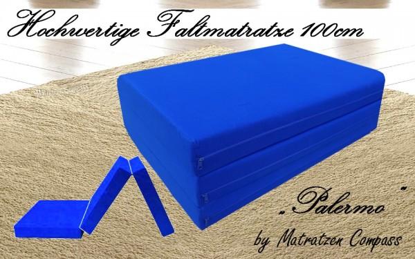 Faltbare Matratze 100x200x11 cm blau Palermo