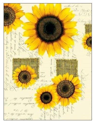WACHSTUCH Lugana Sonnenblume
