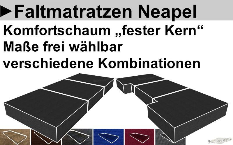 Günstige feste faltbare Matratze aus Komfortschaum als Maßanfertigung sofort online bestellen oder in unserer Filiale in Berlin abholen