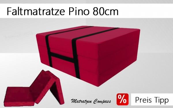 Faltmatratze mit Tragegurt 80x190x10 weinrot Pino
